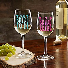 image of Bride Tribe White Wine Glass