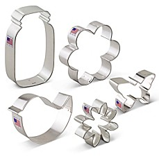 image of Ann Clark 5-Piece Flower Garden Cookie Cutter Boxed Set