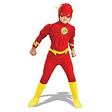 image of Flash Deluxe Muscle Chest Child's Halloween Costume in Red