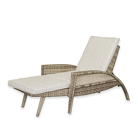 Ink ivy anna outdoor lounge convertible to chaise chair for Chaise convertible