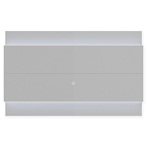 buy manhattan comfort lincoln 2 2 floating wall tv panel in white gloss from bed bath beyond. Black Bedroom Furniture Sets. Home Design Ideas