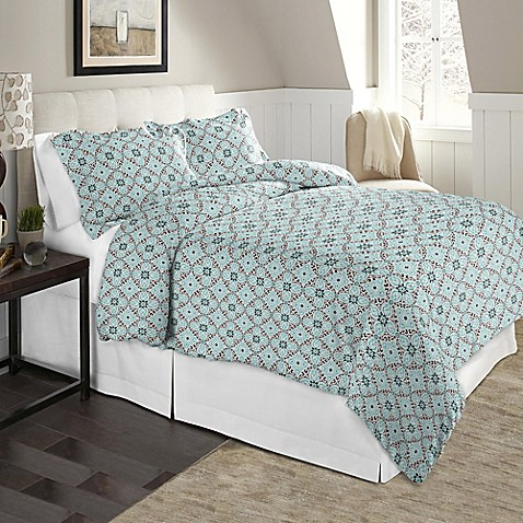buy pointehaven 170 gsm flannel twin twin xl duvet cover set in brown teal from bed bath beyond. Black Bedroom Furniture Sets. Home Design Ideas