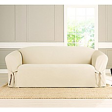 Image Of Sure Fit® Heavyweight Box Seat Sofa Cover