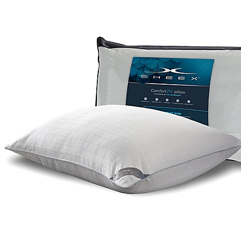 Sheex 174 37 5 174 Back Stomach Sleeper Pillow In White Bed