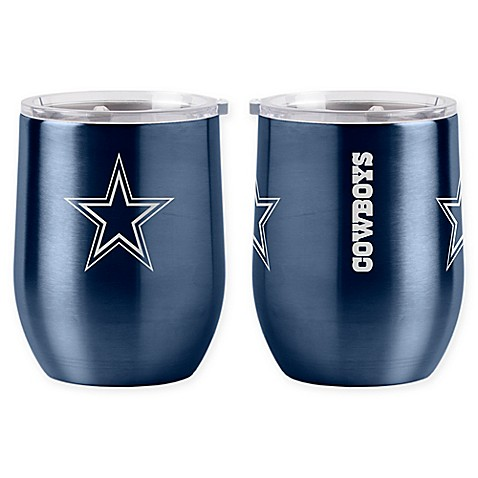 Nfl Dallas Cowboys 16 Oz Stainless Steel Curved Ultra