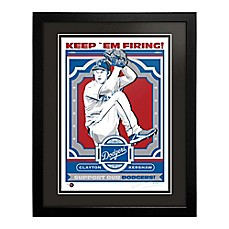 image of MLB Los Angeles Dodgers Clayton Kershaw That's My Ticket Serigraph with Frame