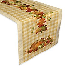 image of laural home happy harvest table runner