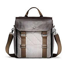 image of Paperclip Willow Diaper Bag in Heather Grey