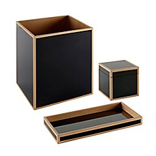 image of madison park lacquered 3piece bath accessory set