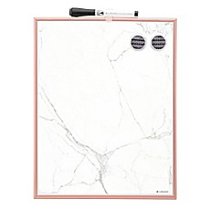 image of 11-Inch x 14-Inch Magnetic Dry Erase Board in Marble/Rose Gold
