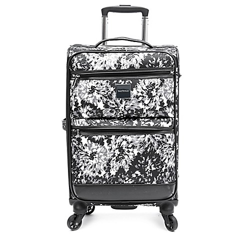 Isaac Mizrahi Boldon 22 Inch Spinner Carry On In Black White Bed Bath Beyond
