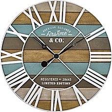 image of FirsTime® Maritime Planks Wall Clock
