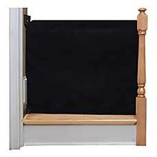 image of The Stair Barrier Wall to Banister Indoor/Outdoor Gate in Black