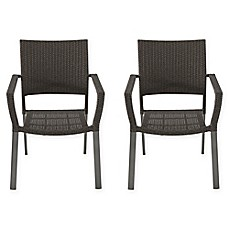 Barrington Square Stacking Wicker Chairs Set Of 2
