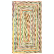 image of Capel Rugs Baby's Breath Braided Rug in Light Yellow