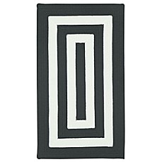 image of Capel Rugs Willoughby Concentric Indoor/Outdoor Rug in Black/White
