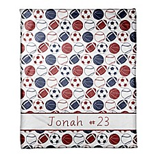 image of Sports Balls Coral Fleece Blanket