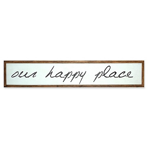 "Masterpiece Art Gallery ""Our Happy Place"" Wood Wall Art in White"