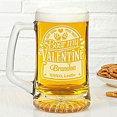 image of Beer My Valentine 25 oz. Beer Glass