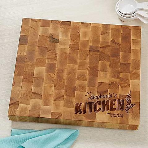 Her Kitchen Butcher Block Cutting Board Bed Bath Amp Beyond