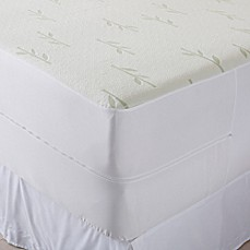 image of Great Home Bay Renatta Viscose Mattress Protector in Ivy