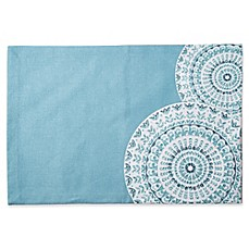image of Medallion Canvas Placemat in Blue