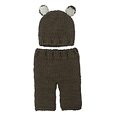 image of So'dorable Size 0-3M 2-Piece Bear Chunky Knit Hat and Pants Set in Brown