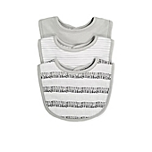 image of Sterling Baby 3-Pack Bibs in Grey