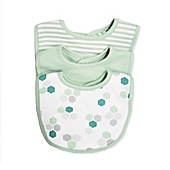 image of Sterling Baby 3-Pack Geometric Bibs in Green
