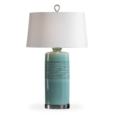 image of Uttermost Rila Table Lamp in Distressed Teal