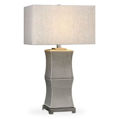 image of Uttermost Arris Table Lamp in Grey with Hardback Shade
