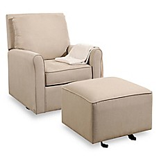 Image Of Abbyson Living Silo Swivel Glider And Ottoman Set