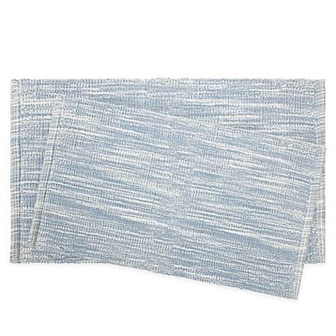 Buy Jean Pierre Taylor 2 Piece Reversible Cotton Bath Rug Set In Light Blue From Bed Bath Beyond