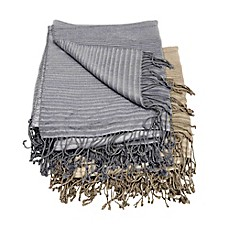 image of Mina Victory by Nourison Textured Stripe Throw Blanket