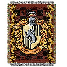 image of Harry Potter™ HufflePuff Crest Tapestry Throw Blanket