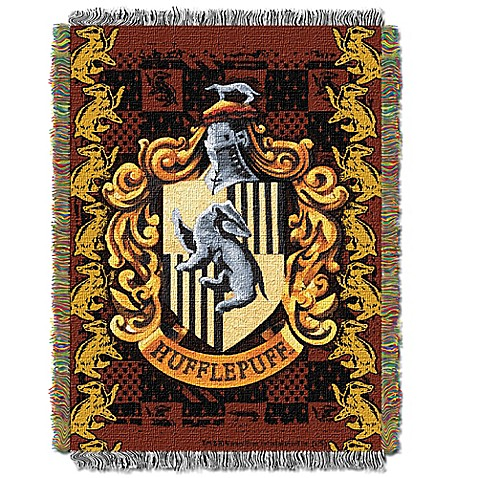 buy harry potter hufflepuff crest tapestry throw blanket. Black Bedroom Furniture Sets. Home Design Ideas