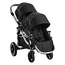 image of Baby Jogger® City Select® Stroller with Second Seat in Onyx/Silver