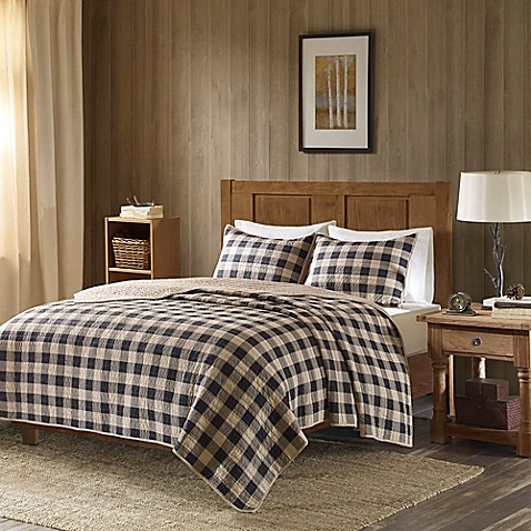 Woolrich 174 Buffalo Check Oversized Quilt Set Bed Bath