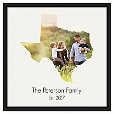 image of Designs Direct Texas Family 20-Inch Square Framed Canvas Wall Art