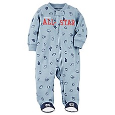 image of carter's® Snap-Up All-Star Sleep & Play Footie in Blue