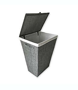 Cesta para ropa sucia de metal Parker color gris