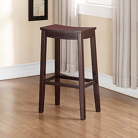 Buy Linon Home Aubree Saddle Bar Stool In Espresso From