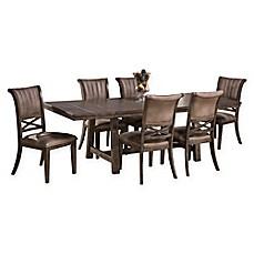 image of hillsdale legacy wood 7piece dining set in dark grey