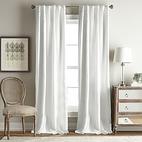 buy simone 63 inch rod pocket back tab room darkening window curtain panel in white from bed. Black Bedroom Furniture Sets. Home Design Ideas