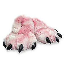 image of Wishpets Furry Tiger Paw Slippers in Pink