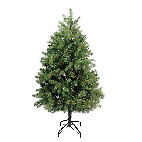 northlight 4 foot noble fir pre lit artificial christmas tree with multi color