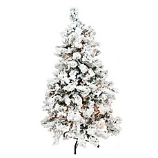image of northlight 12 foot heavily traditional pre lit artificial christmas tree with clear - 12 Foot Christmas Tree