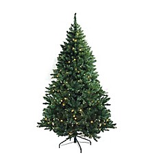 image of northlight 12 foot pre lit artificial christmas tree with white led lights - Outdoor Artificial Christmas Trees