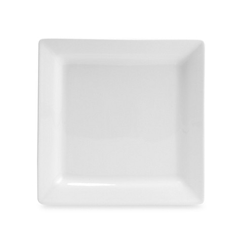 Oneida® Chef's Table™ Porcelain 10-Inch Square Dinner Plates in White (Set of 4)