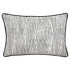 image of Laundry by SHELLI SEGAL® Palma Bamboo Stripe Throw Pillow in Black/White
